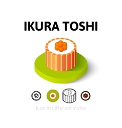 Ikura toshi icon in different style vector