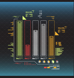info graphic elements futuristic user interface vector image