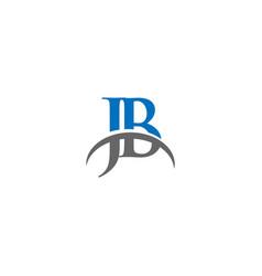 jb letter logo design inspiration vector image