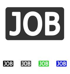 Job caption flat icon vector