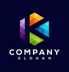 k pixel logo vector image