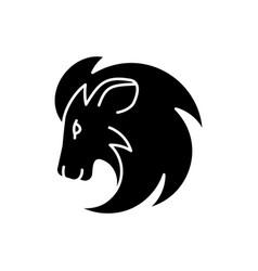 Leo zodiac sign black glyph icon vector