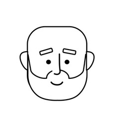 Line man face with hairstyle design vector