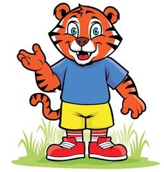Little tiger vector image vector image