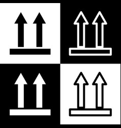 logistic sign of arrows black and white vector image