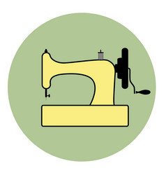 logo style retro outlines sewing machine vector image