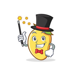 magician mango character cartoon mascot vector image