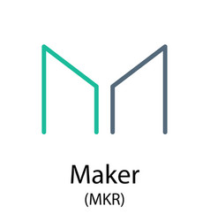 maker cryptocurrency symbol vector image