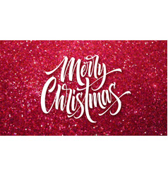 merry christmas greeting card glitter vector image