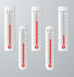 Modern thermometers for design set vector