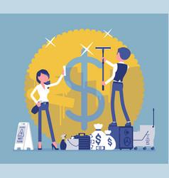 Money laundering crime vector