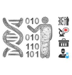 Net dna research mesh vector