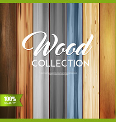 Ornamental wood collection background vector
