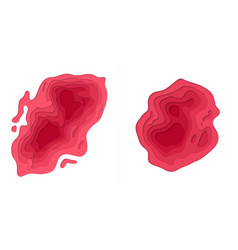 Papercut multi layer red gradient background vector