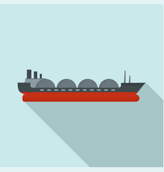 petrol tanker ship icon flat style vector image