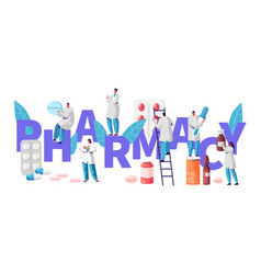 Pharmacy business drug store industry character vector