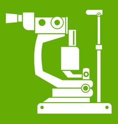 Phoropter icon green vector