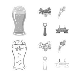 pub and bar symbol set of vector image