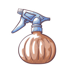 pump spray with water hand drawn icon bottle vector image