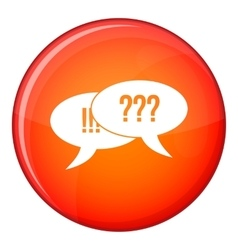 Question and exclamation icon flat style vector