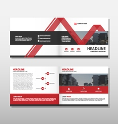 Red Brochure Leaflet Flyer annual report template vector