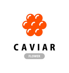 red caviar logo in a shape flower vector image
