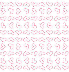 retro cute seamless pattern with red outline vector image