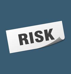 Risk sticker risk square sign risk peeler vector