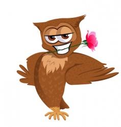 Romantic owl vector