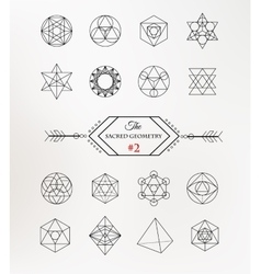Sacred geometry Alchemy spirituality icons vector image
