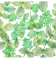 Seamless pattern with green leaves EPS10 vector image