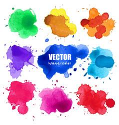Set of splash watercolor splash vector