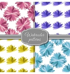 SetWatercolorPatterns vector image