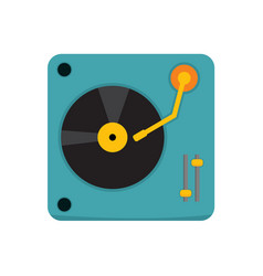 simple turntable dj graphic vector image