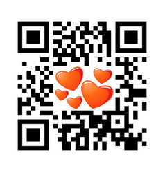 Smartphone readable qr code happy valentines day vector