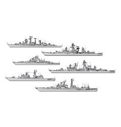 Soviet frigates vector