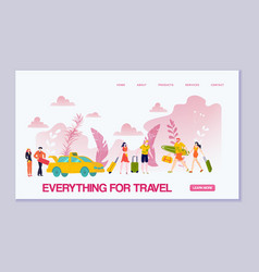 summer travel essentials vacations things vector image