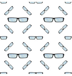 sun summer glasses pattern vector image