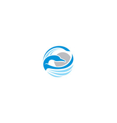 swan logo icon technology vector image