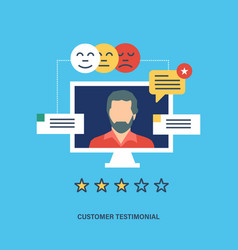 testimonials business feedback vote and review vector image