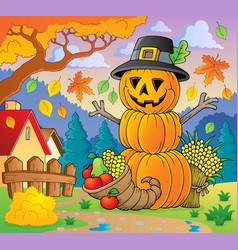 Thanksgiving theme image 2 vector