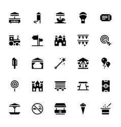 Theme park glyph icons vector