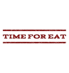 Time For Eat Watermark Stamp vector