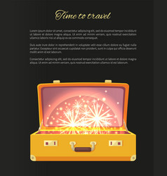 time to travel blazing banner vector image