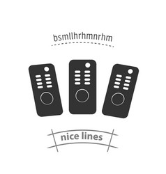 Tv remote control isolated icon household vector