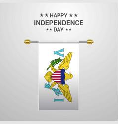 Virgin islands us independence day hanging flag vector
