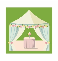 Wedding marquee icon cartoon style vector