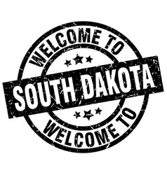 Welcome to south dakota black stamp vector