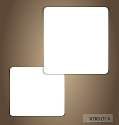 White note papers ready for your message vector image