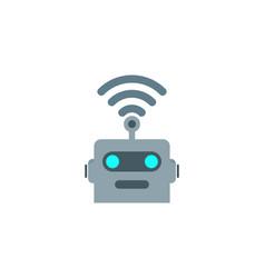 Wifi robot logo icon design vector